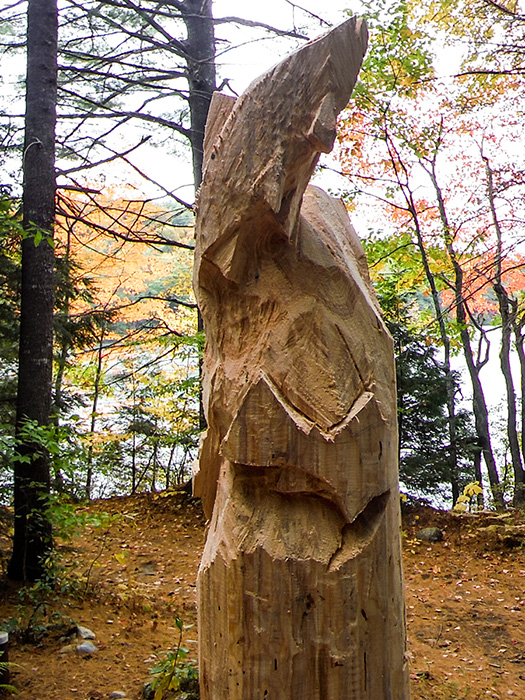 Carved trout totem poles for Fish marlborough ma